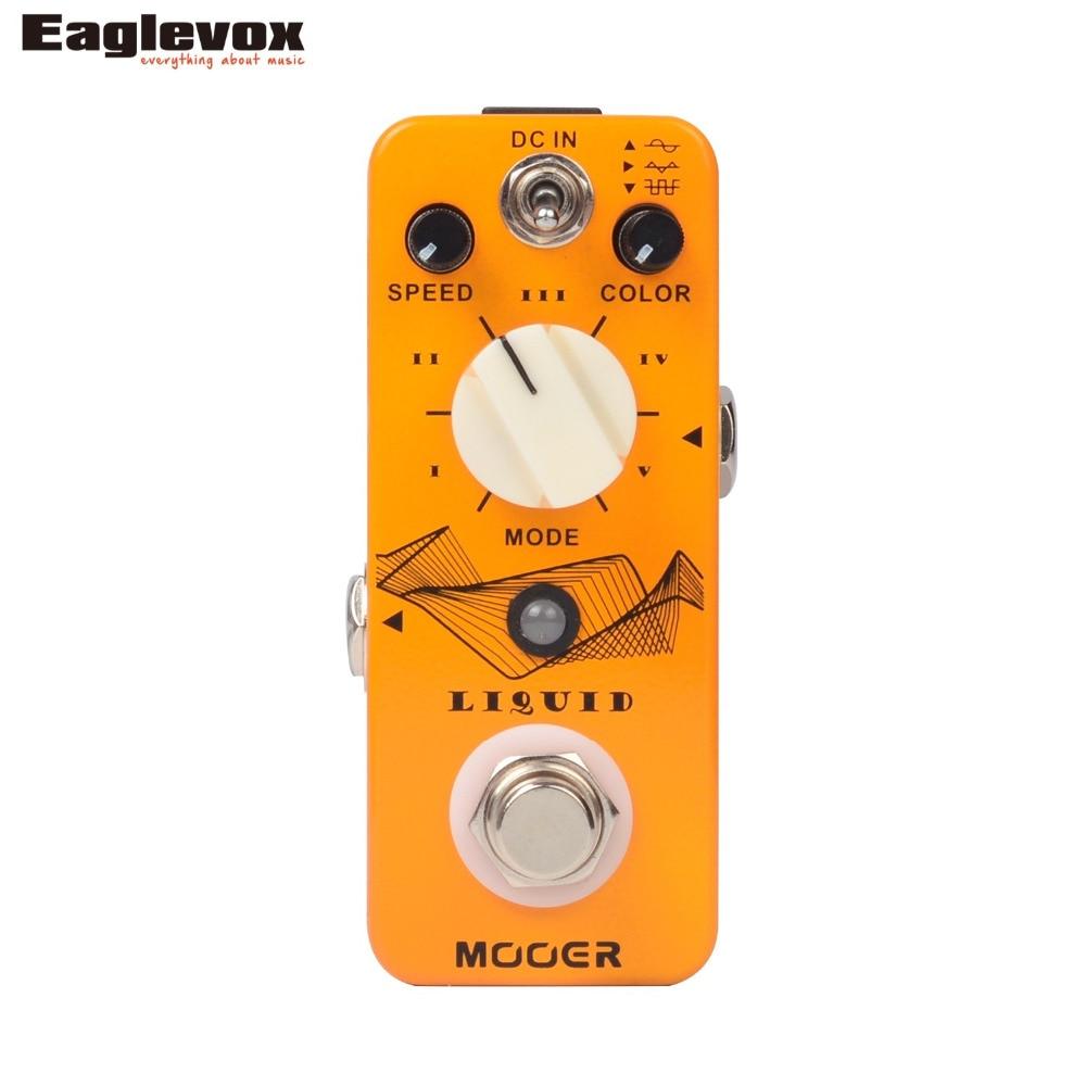 Mooer Liquid Digital Phaser Electric Guitar Effect Pedal True Bypass mooer blue faze fuzz pedal electric guitar effect pedal true bypass mfz1