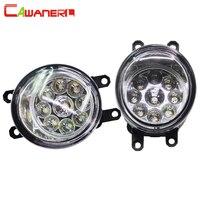 Cawanerl 2 Pieces Car LED Bulb Right + Left Fog Light DRL Daytime Running Light DC 12V For Scion XA 1.5L L4 2006