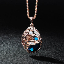 Fashion Sweater Chain Pendant Necklaces Jewelry Trendy High Quality Big Crystal Long Necklace For Women Accessories