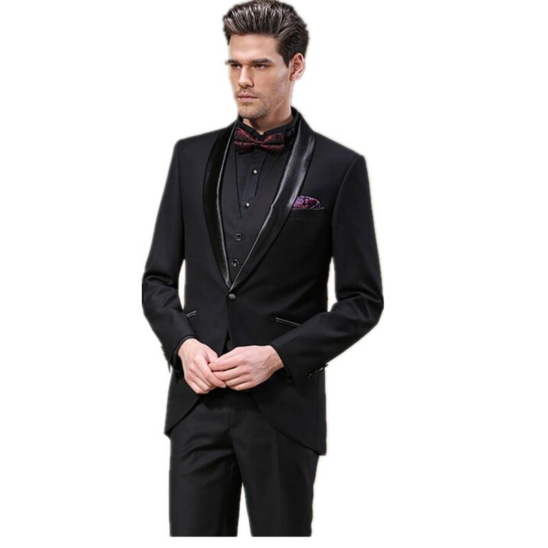 Elegant men\'s tuxedo shawl collar groom suit wedding suit prom ...