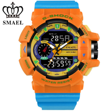 Colorful Outdoor Sport Watches Men LED Digital-watch Quartz Dual Display Wristwatch Relogio relogio masculino Male Clock WS1436