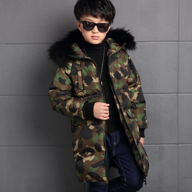 Winterjas Parka.New Boys Winter Jacket Thickness Camouflage Zipper Parka Winter Coat