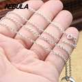 Vintage Thai Silver 2mm Round link Chain Necklace New Fashion 100% Authentic 925 Sterling Silver Necklace Women Men Jewelry