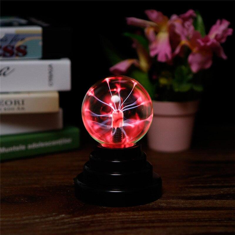 Crystal USB Plasma Ball Magic Glass Sphere Light Electric Lightning Ball Novelty Transparent Lamp Home Party Decoration