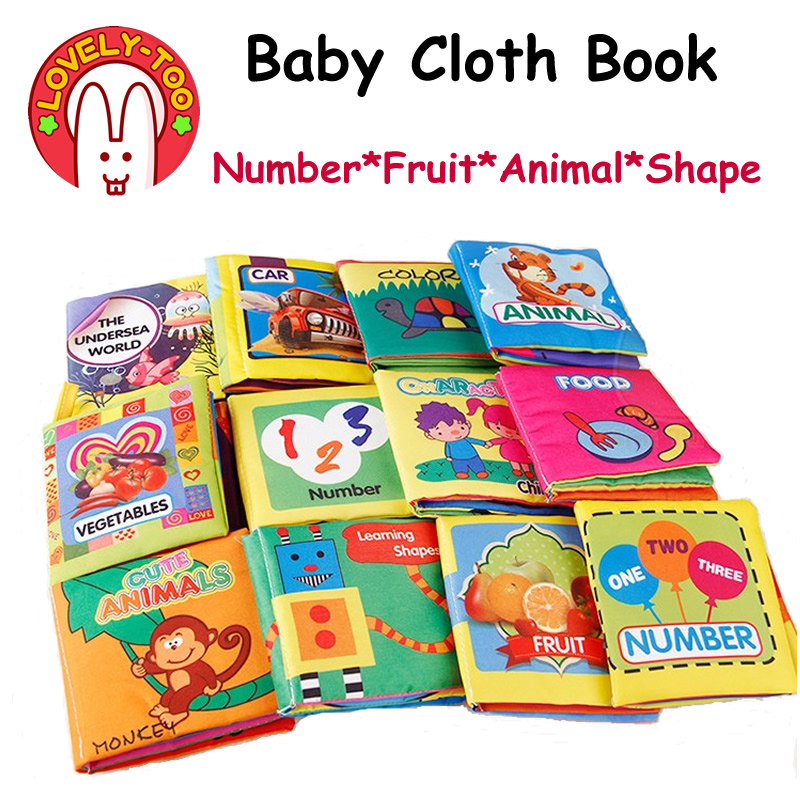 6PCS Baby Cloth Book Soft Quiet Reading For Children 0-3 Years Early Learning Educational Toys For Babies