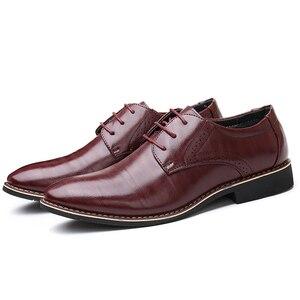 Image 4 - Oxfords chaussures en cuir pour hommes, baskets britanniques noires et bleues, confortables, faites à la main, style formel, Bullock, collection chaussures plates pour homme, à lacets