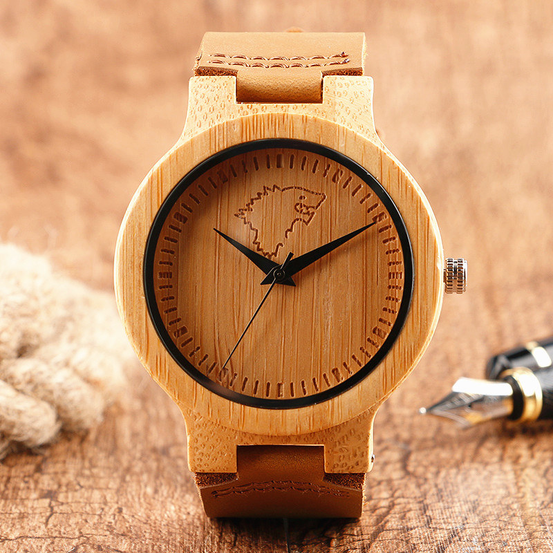Wood <font><b>Watches</b></font> House <font><b>Stark</b></font> Game of Thrones Wolf Pattern Face Analog Women <font><b>Men</b></font> Handmade Nature Wristwatches Relogio Feminino Clock image