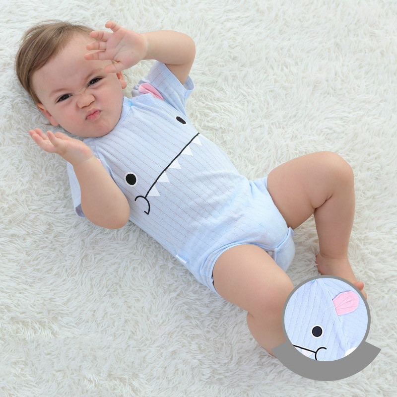 HTB1ViWPnaSWBuNjSsrbq6y0mVXag New Summer Baby Boys Romper Animal style Short Sleeve infant rompers Jumpsuit cotton Baby Rompers Newborn Clothes Kids clothing