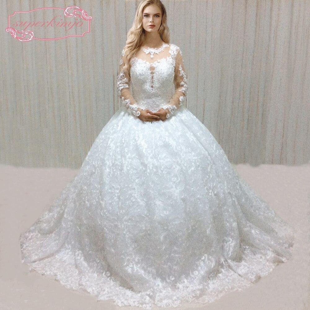 Vestidos de novia de encaje de manga larga SuperKimJo Boho Vestido de - Vestidos de novia