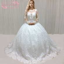 Superkimjo роскошное арабское Свадебное бальное платье с длинным