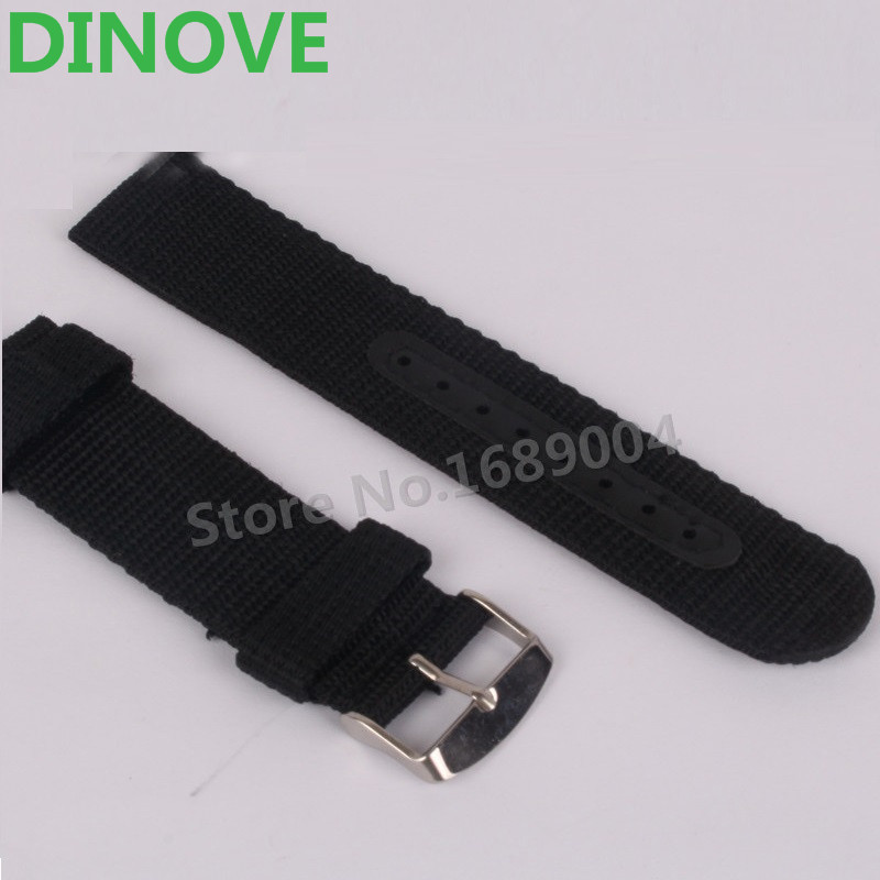 Good Quality Waterproof Outdoor Thickness Nylon Watch Strap 24mm 22mm 20mm 18mm Black Green Brown Blue Nato Watch Band Belt