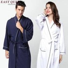 Ванны халат женщины мужчины халат Женщины домашний халат длинный мягкий хлопок любителей халат кимоно пижамы халат AA2480 yq