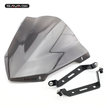 Купить с кэшбэком Pare-Brise Windscreens For YAMAHA MT07 MT 07 MT-07 FZ07 FZ 07 FZ-07 2018-2020 Windshield Wind Deflectors Motorcycle Accessories