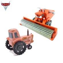 1:55 metal diecast disney pixar frank colheitadeira e caminhão trator liga de brinquedo veículos 2 combinação varejo venda quente presente natal