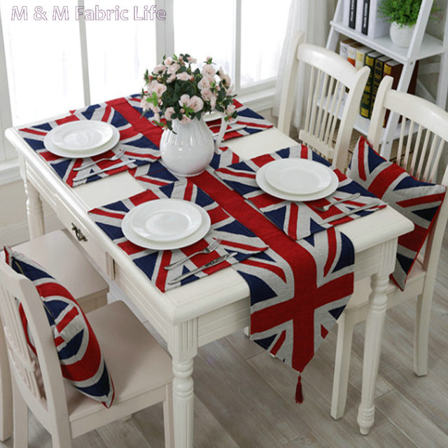 British Flag Pattern Print Table Runner Doily Mat Sofa Chair Cushion Polyester And Cotton
