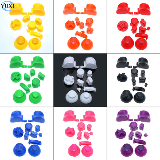 US $0 94 18% OFF|YuXi Full set D Pads Power ON OFF Button for GameCube A B  X Y L R Buttons and Analog Thumbstick Joystick Stick Cap for NGC-in