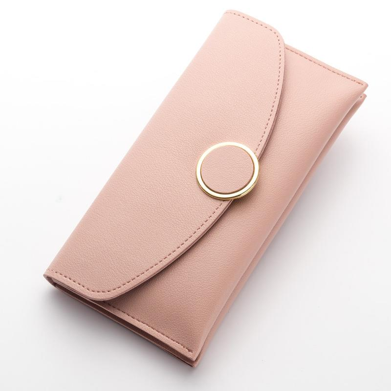 2018 Famous Brand Women Wallet Long Purse Leather Wallet Female Card Holder Fashion Coin Purse Money Bag High Quality padieoe women s genuine leather long wallet fashion designer coin purse famous brand clutch bag phone card holder for female