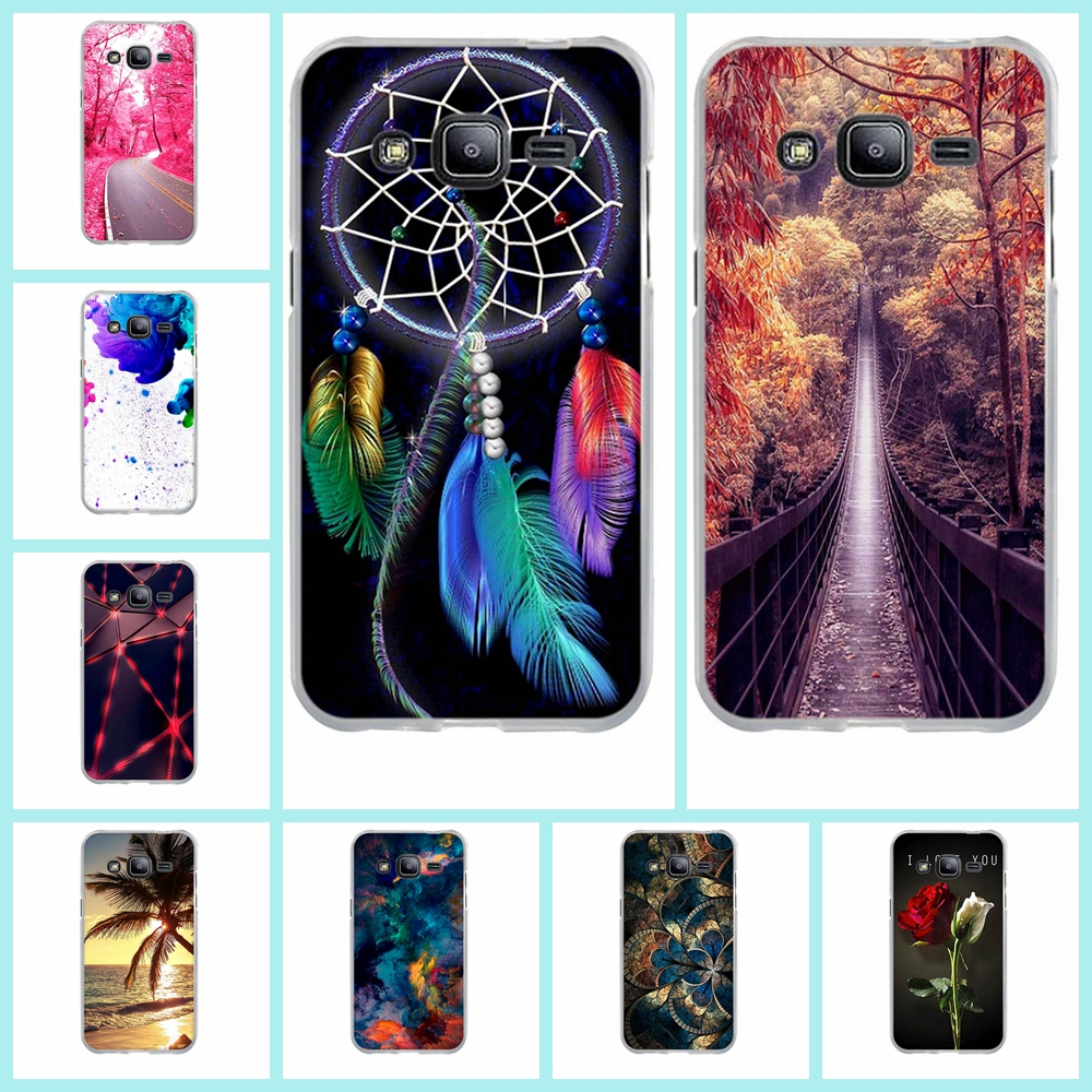Cases For Samsung Galaxy J2 Case Cover Silicone Luxury Soft TPU Cute Painted Back Cover For Galaxy J2 J200F Phone Case Funda