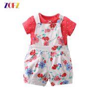 ZOFZ Summer New Kids Baby Clothes 2Pcs Set Pplka Dot Fashion Cute ONeck Regular Chiffon Boy