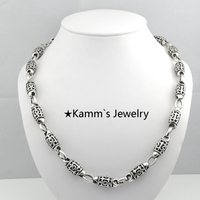 2015 New Fleur De Lis Chain Mens 316L Stainless Steel Necklaces Casting men jewelry Fashion Free Shipping Wholesale Biker KN267