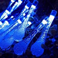 3M 20 LED Battery Raindrops Electric Outdoor Light String Outdoor Garden Garden Christmas 2 Pattern Multicolor