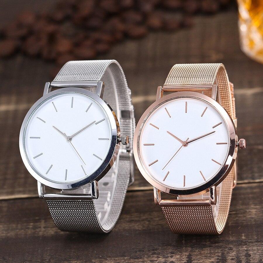 Vansvar Brand Fashion Rose Gold & Silver Mesh Band Wrist Watch Casual Women Quartz Watches Gift Relogio Feminino Drop Shipping 5