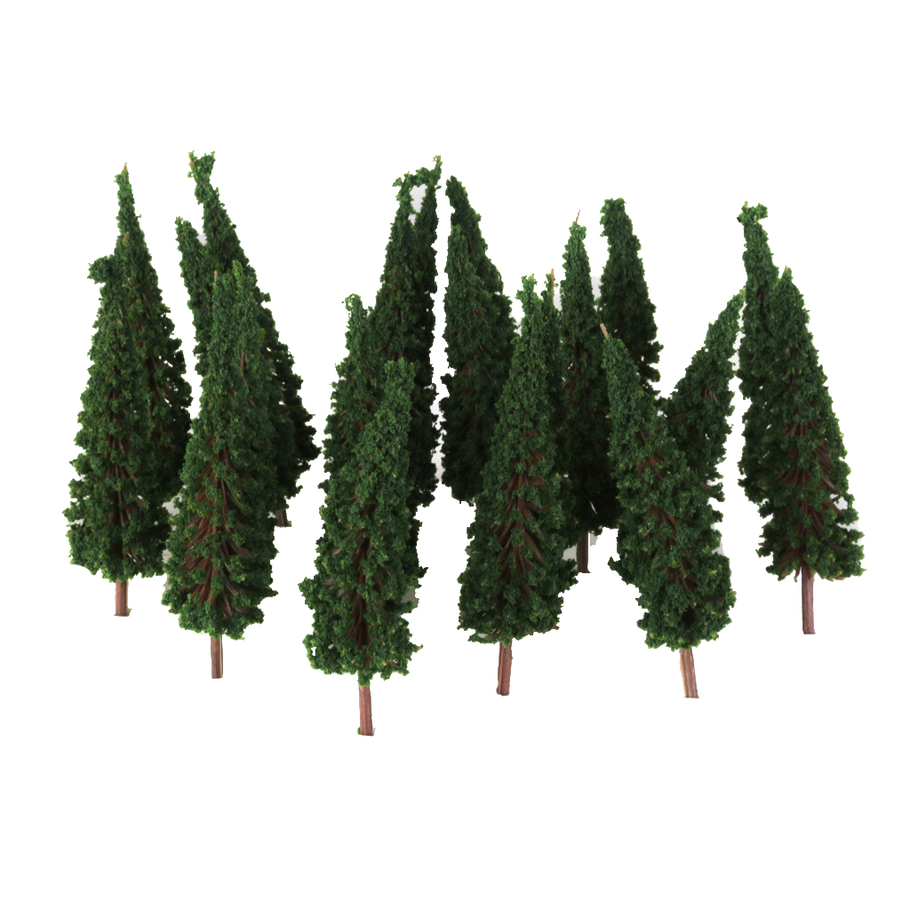 50PCS Dark Green Trees Model Train Railway Park Street Scenery HO Scale 6.5cm