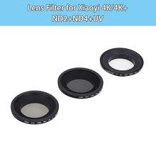 JUNESTAR AGC Glass Lens Filter ND2+ND4+UV Set for Xiaomi Xiaoyi 4K/4K+ Sport Motion Digital camera Accent