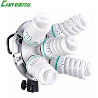 Photo Studio Godox TL 5 5in1 E27 Socket Tricolor Bulb Light Lamp Head Continuous Light For