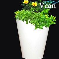Comprar Plantador de plástico blanco al aire libre RGB recargable rojo blanco amarillo colores cambiar VC F3040