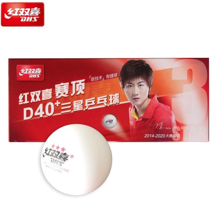 цена на 20 Balls DHS 3-Star D40+ (Ding Ning) Table Tennis Balls New Material Plastic Poly Ping Pong Balls