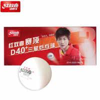 20 balles DHS 3 étoiles D40 + (Ding Ning) balles de Tennis de Table nouveau matériau plastique Poly balles de Ping-Pong