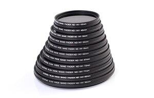 Image 2 - FOTGA 43/46/49/52/55/58/62/67/72/77/82 mm Slim Fader ND Filter Lens Protector Variable Neutral Density ND2 to ND400