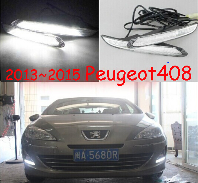 LED,2013~2015 Peugeo 408 daytime Light,Peugeo 408 fog light,Peugeo 408 headlight, 408 40 ...