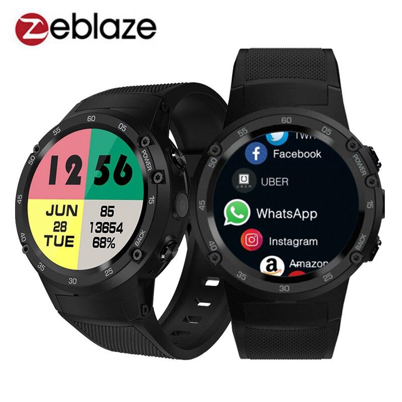 Zeblaze Thor 4 4G S LTE GPS WiFi Android montre connectée Flapship 1 GB + 16 GB 5MP Caméra montre connectée fitness montre-bracelet