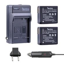 Tectra (2PACK)DMW-BLG10/DMW-BLE9 BATTERY + Digital Charger for Panasonic DMC-GF6 GX7 GX80 GX85 GX7 Mark II,DMC-LX100 D-Lux