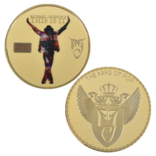 Free Shipping 5pcs/lot,Michael Jackson Commemorative gold Coin. King of Pop. Coin