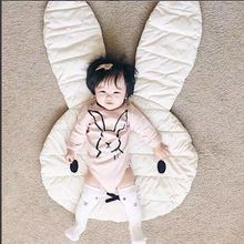 New Arrival Ins 3D Bunny Baby Climbing Blanket Super Cute Cotton Bebe Infant Game Blanket Cartoon Newborn Rabbit Bed Blanket