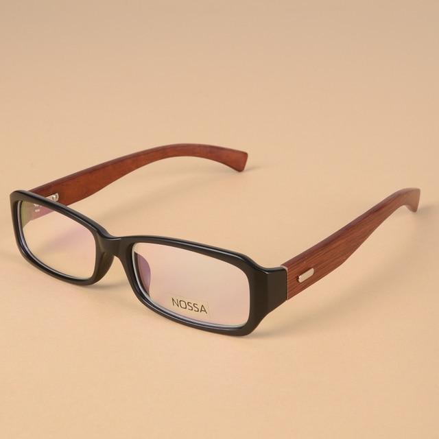 wood made fashion personality women men glasses frame vintage rectangular frame wooden eyeglasses prescription eyewear frames - Wooden Eyeglass Frames