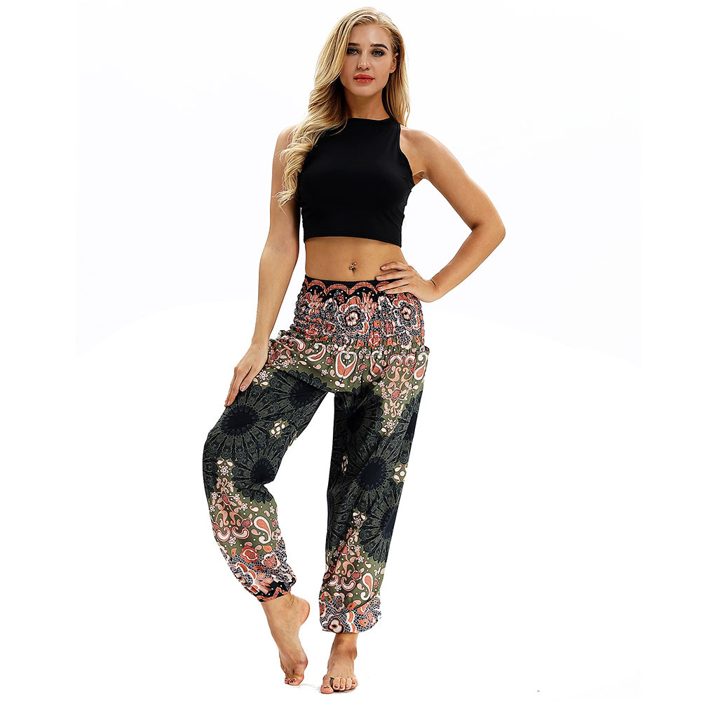 nuevo concepto 96026 0732b US $4.82 30% OFF Yoga Pants Men Women Loose Hippy Yoga Trousers Baggy  Aladdin Harem Pants Sport Leggings ropa deportiva mujer gym-in Yoga Pants  from ...