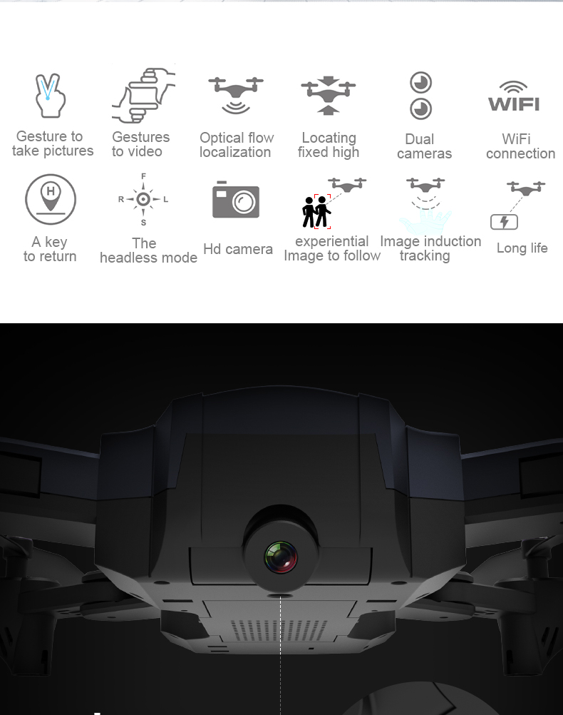 F196 RC Drone With Camera 2MP HD Quadrocopter Altitude Hold Optical Flow Positioning Foldable RC Helicopter Dron VS SG900 XS812 2