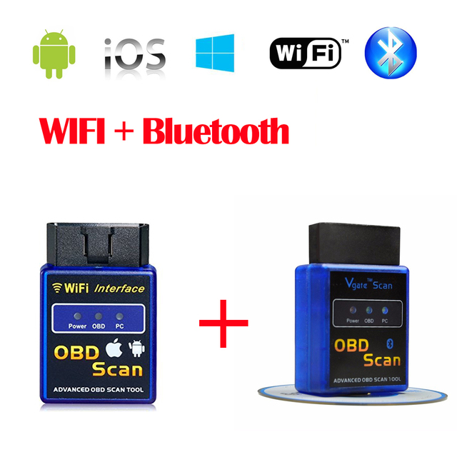 HOT!High Quality V2.1 Super Mini ELM327 Bluetooth Supports OBD OBDII Protocols ELM 327 Diagnostic Tool For Multi-Brand Cars