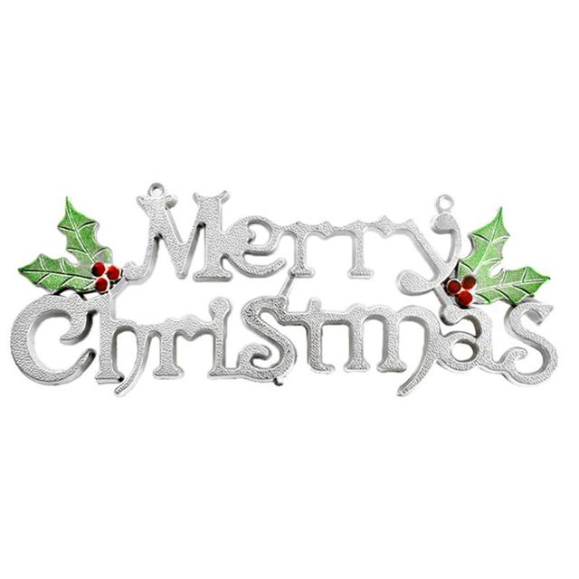 19cm 24cm 30cm christmas tree decoration shiny merry letter card for xmas hanging ornament - Christmas Letter Decorations