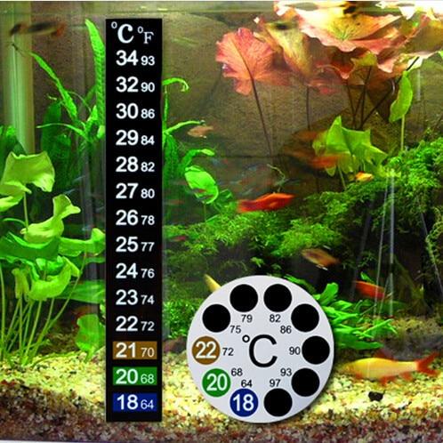 termometros adhesivos digitales para acuarios, indican la temperatura en grados celsius