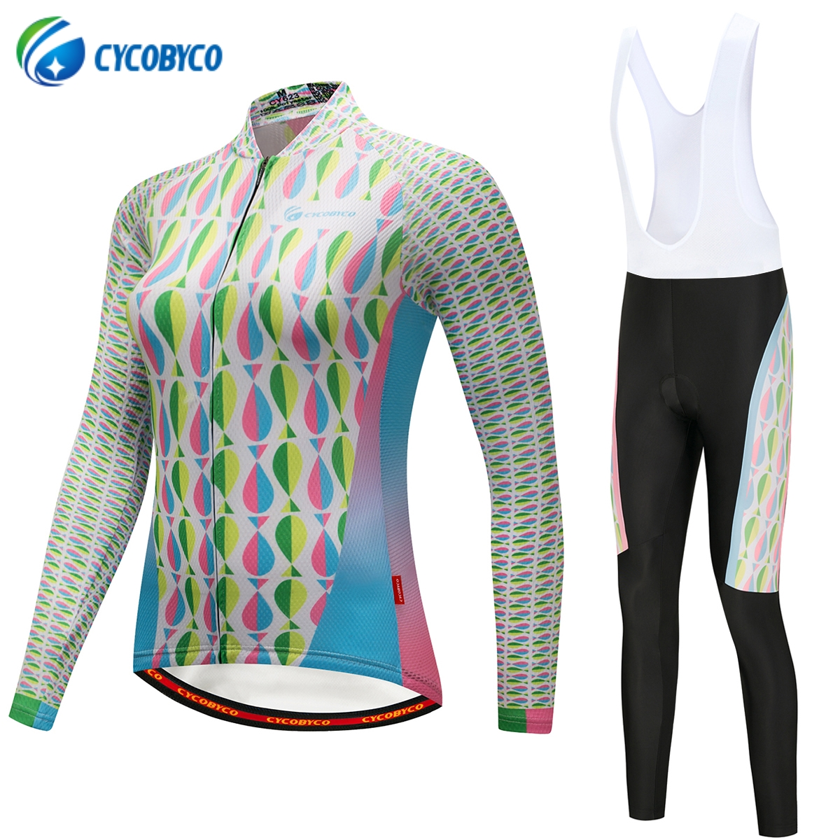 Cycobyco Autumn Mermaid Women Cycling Jersey Set /Mountian Bike Wear Ropa Ciclismo Cycling Bicycle Long Clothes Cycling Clothing