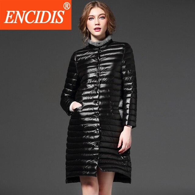 Single Breasted Women's Winter Coat 2016 New Long Light Thin Down Jacket Female Jacket Women 's Winter Jackets Down Coat Y700