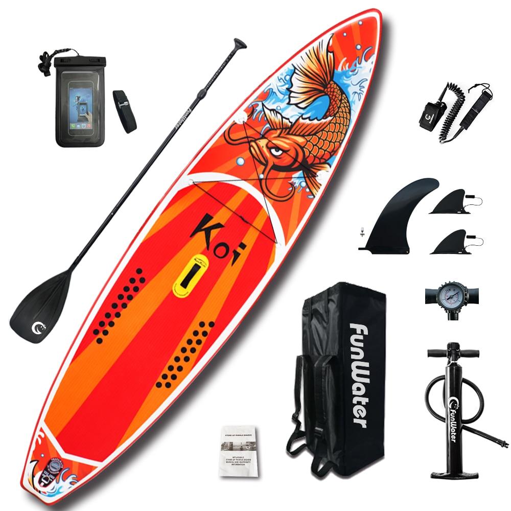 FunWater 350*82*15cm Inflatable Paddle Board Sup W' Paddle,Bag,Leash,Pump,Phone Bag