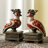 High end European decor furnishings and ornaments Home Furnishing resin Yuanyang water Bookends wedding gift book