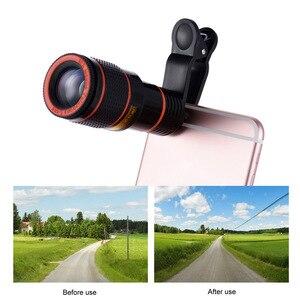 Image 5 - Набор для телескопа Girlwoman, объектив для смартфона и сотового телефона, для iphone x, 12x, зум xiaomi, уличная камера, телескоп для сотового телефона, объектив s9