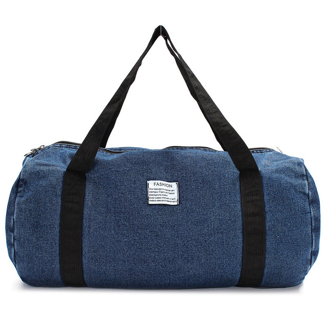 Outdoor Sport Gym Bag Travel Duffel Denim Jean Cloth Bags Women Fitness Yoga Training Female